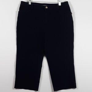 Lauren Ralph Lauren Navy Blue Capri Pants Twill